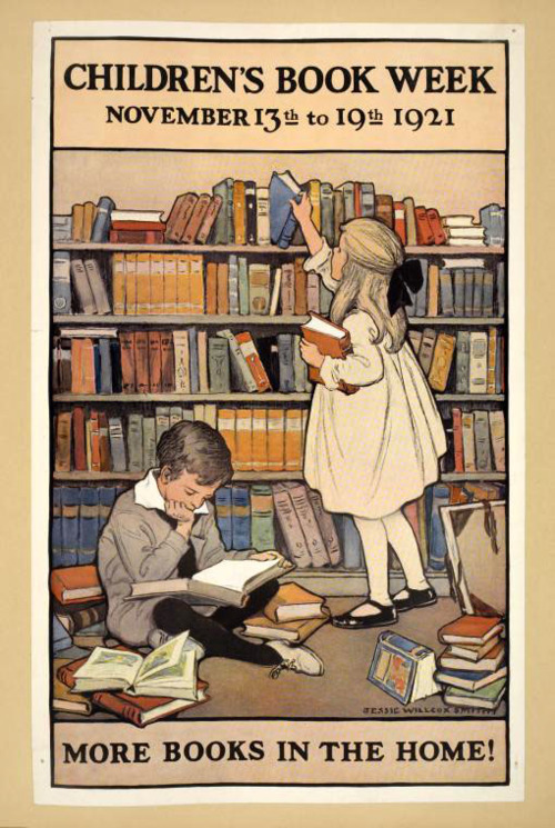 Children's Book Week poster 1921 - art by Jessie Wilcox Smith